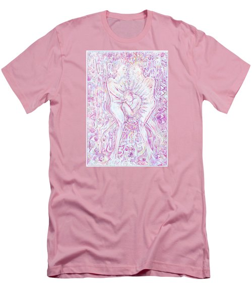 Men's T-Shirt (Slim Fit) featuring the mixed media Life Series 6 by Giovanni Caputo