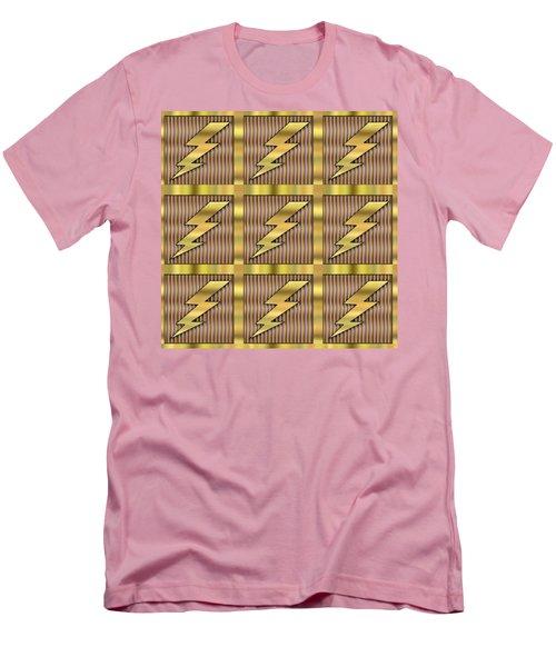 Lightning Bolt Group - Transparent Men's T-Shirt (Slim Fit) by Chuck Staley