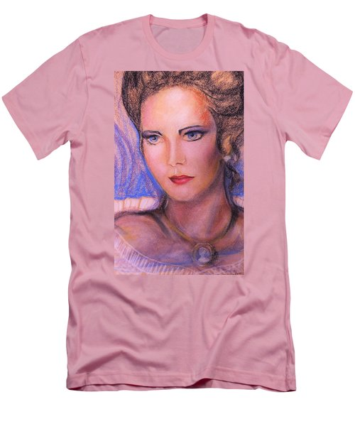 Men's T-Shirt (Slim Fit) featuring the pastel Linda Carter by Denise Fulmer