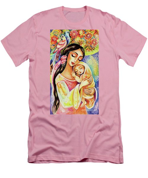 Men's T-Shirt (Slim Fit) featuring the painting Little Angel Dreaming by Eva Campbell