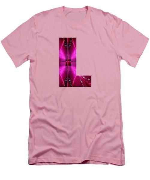 Lll Ll L Alpha Art On Shirts Alphabets Initials   Shirts Jersey T-shirts V-neck By Navinjoshi Men's T-Shirt (Slim Fit) by Navin Joshi