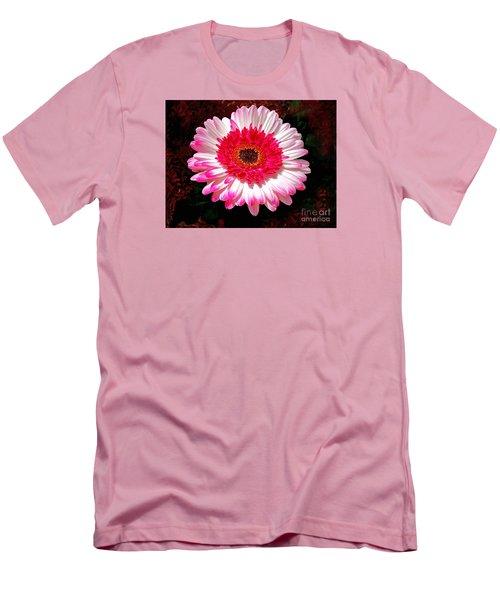 Lollipop Gerber Daisy Men's T-Shirt (Slim Fit) by Patricia L Davidson