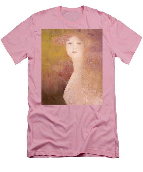 Men's T-Shirt (Slim Fit) featuring the digital art Love Calls by Jeff Burgess
