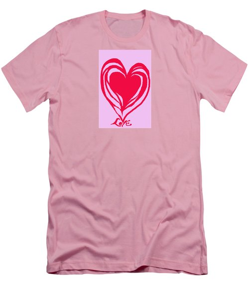 Men's T-Shirt (Slim Fit) featuring the digital art Love by Mary Armstrong