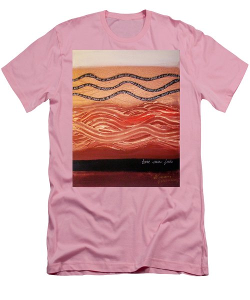 Men's T-Shirt (Athletic Fit) featuring the painting Love Never Fails by Winsome Gunning