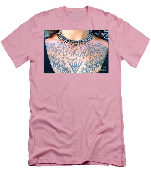 Love Your Life Tattoo Men's T-Shirt (Athletic Fit)