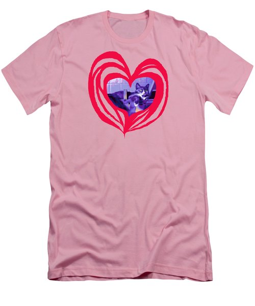 Loveheart Kitty Men's T-Shirt (Athletic Fit)