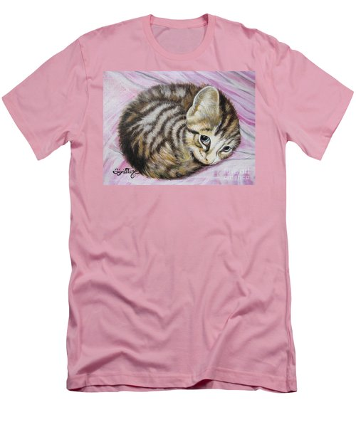 Men's T-Shirt (Slim Fit) featuring the painting Lucy Girl by Sigrid Tune