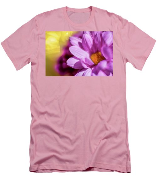 Magenta Floral Men's T-Shirt (Athletic Fit)