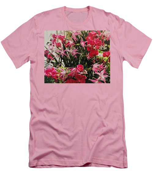 Magenta Orchid Garden Men's T-Shirt (Athletic Fit)