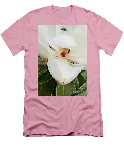 Magnolia Fans Men's T-Shirt (Slim Fit) by Jasna Gopic