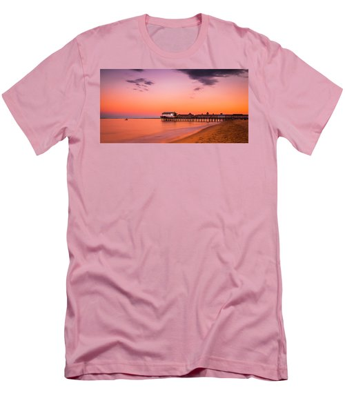 Maine Old Orchard Beach Pier At Sunset Men's T-Shirt (Athletic Fit)