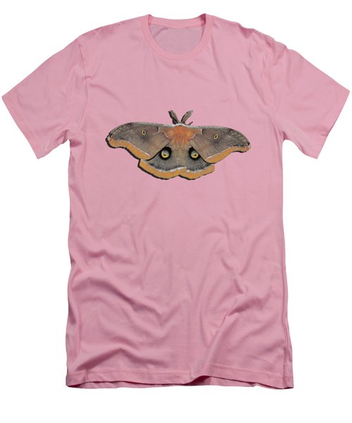 Male Moth Orange And Brown .png Men's T-Shirt (Slim Fit) by Al Powell Photography USA