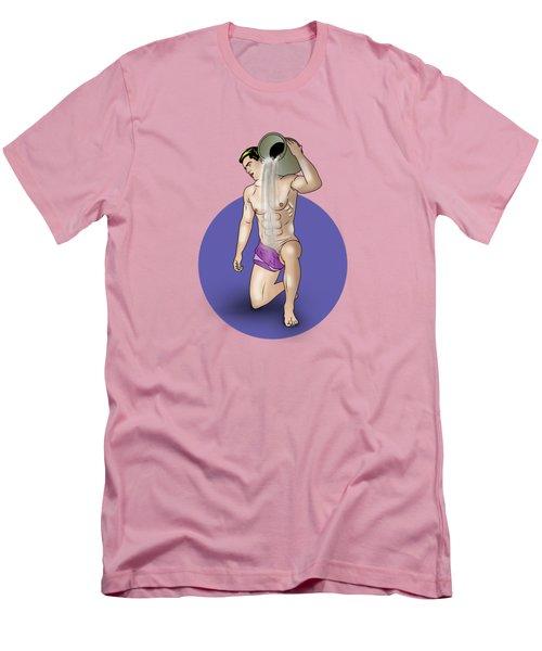 Male Nude Art Comics  Aquarius Men's T-Shirt (Slim Fit) by Mark Ashkenazi