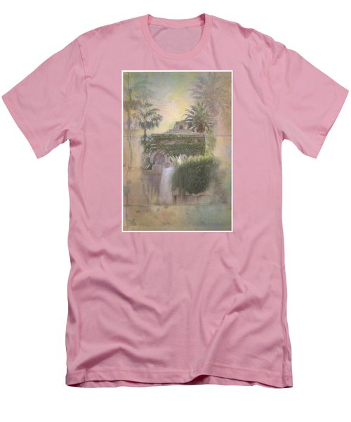 Men's T-Shirt (Slim Fit) featuring the digital art Mandalay Bay by Christina Lihani