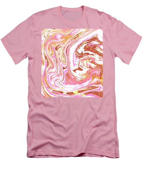 Marble And Rose Gold Dust Men's T-Shirt (Athletic Fit)