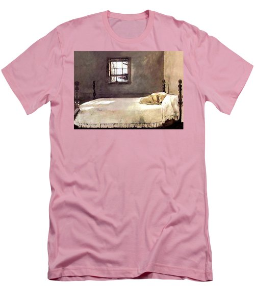 Master Bedroom  Men's T-Shirt (Slim Fit) by Andrew Wyeth