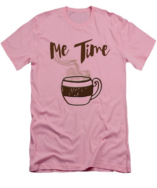 Me Time - Steaming Cup Of Coffee Men's T-Shirt (Slim Fit) by Joann Vitali