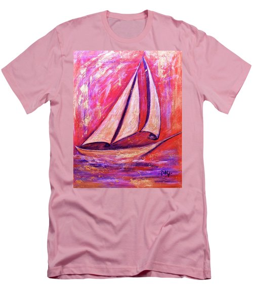 Metallic Sails Men's T-Shirt (Athletic Fit)