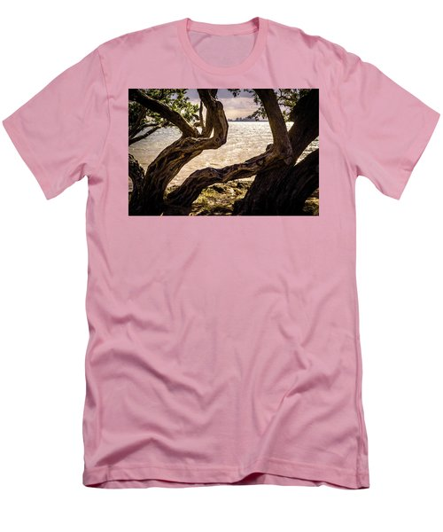 Miami At A Distance Men's T-Shirt (Slim Fit) by Camille Lopez