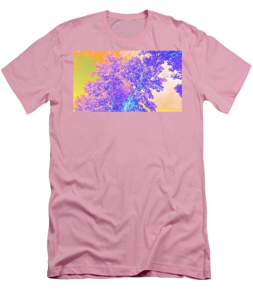 Men's T-Shirt (Slim Fit) featuring the mixed media Mighty Oak Abstract by Mike Breau