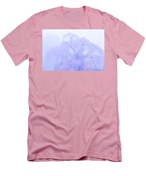 Miharu Takizakura Weeping Cherry01 Men's T-Shirt (Slim Fit) by Tatsuya Atarashi