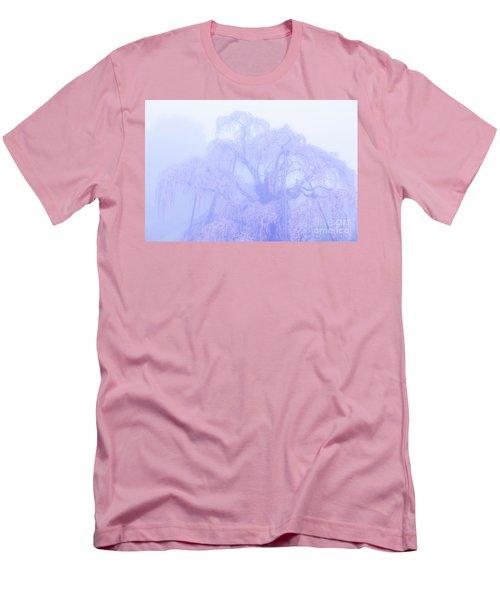 Men's T-Shirt (Slim Fit) featuring the photograph Miharu Takizakura Weeping Cherry01 by Tatsuya Atarashi