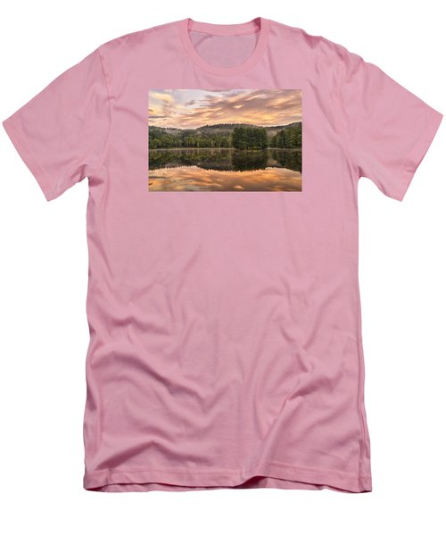 Bass Lake Sunrise - Moses Cone Blue Ridge Parkway Men's T-Shirt (Athletic Fit)