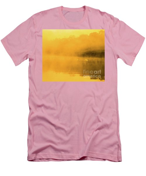 Misty Gold Men's T-Shirt (Slim Fit) by Tatsuya Atarashi