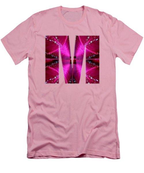 Mmm Mm M Alpha Art On Shirts Alphabets Initials   Shirts Jersey T-shirts V-neck By Navinjoshi Men's T-Shirt (Slim Fit) by Navin Joshi