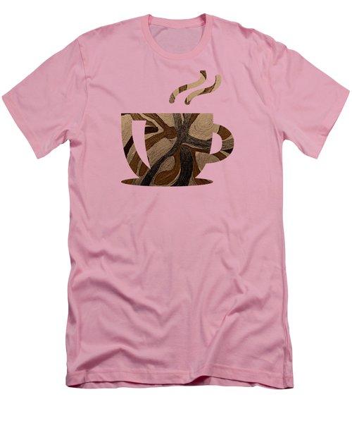 Mocha Java Swirl Men's T-Shirt (Athletic Fit)