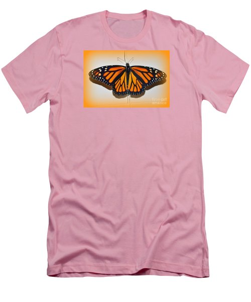 Men's T-Shirt (Slim Fit) featuring the photograph Monarch Beauty by Lew Davis