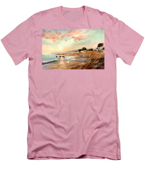 Moonstone Beach California Men's T-Shirt (Athletic Fit)