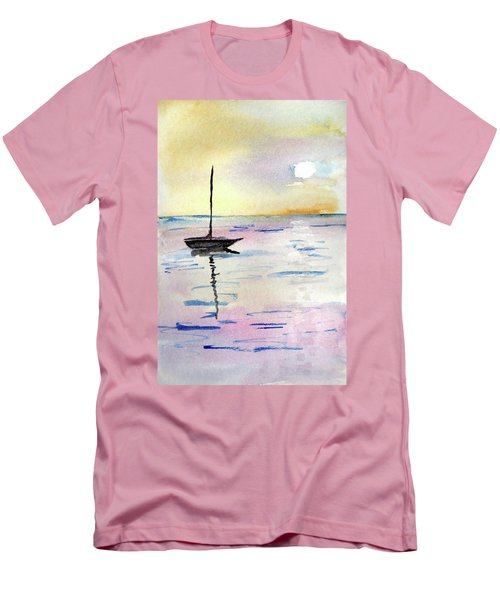 Moored Sailboat Men's T-Shirt (Athletic Fit)