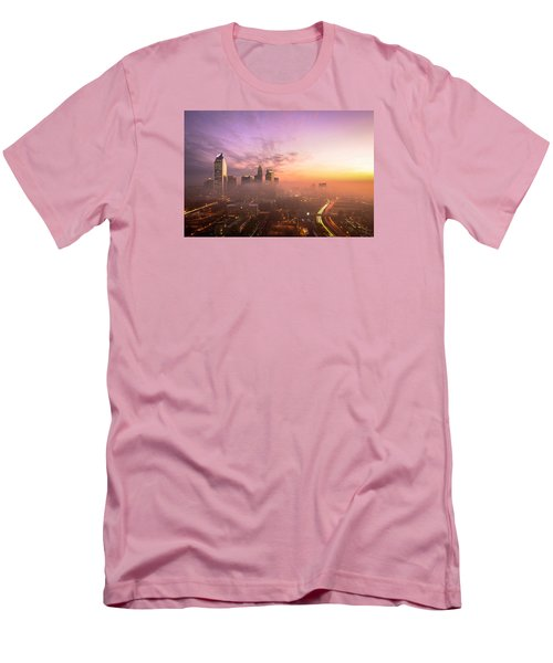 Morning Charlotte Rush Hour Men's T-Shirt (Slim Fit) by Serge Skiba