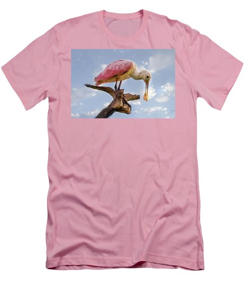 Morning Pinks In Blue Men's T-Shirt (Athletic Fit)