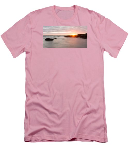 Morning Sun Good Harbor Men's T-Shirt (Slim Fit) by Michael Hubley