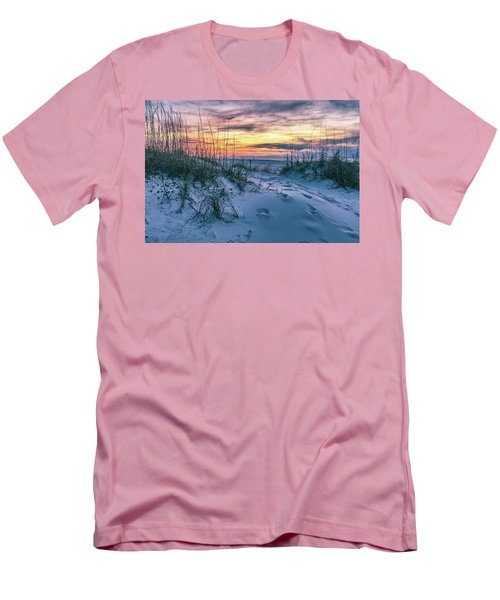 Men's T-Shirt (Slim Fit) featuring the photograph Morning Sunrise At The Beach by John McGraw