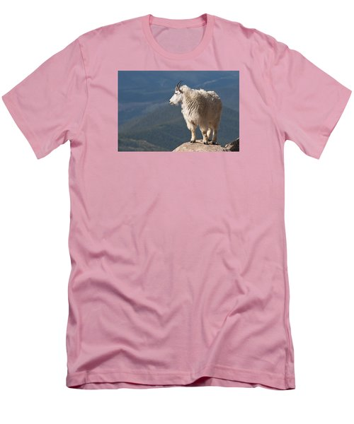Men's T-Shirt (Slim Fit) featuring the photograph Mountain Goat by Gary Lengyel