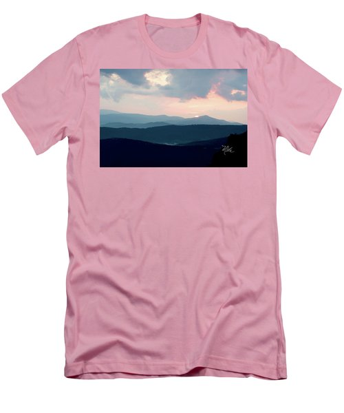 Blue Ridge Mountain Sunset Men's T-Shirt (Slim Fit) by Meta Gatschenberger