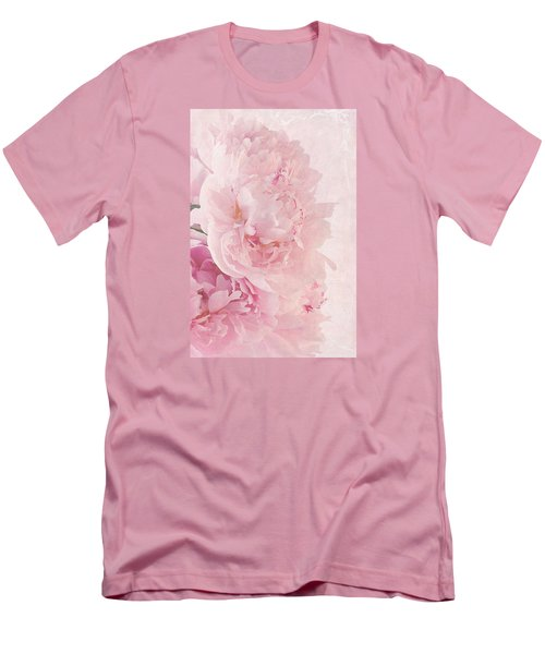 Artsy Pink Peonies Men's T-Shirt (Athletic Fit)