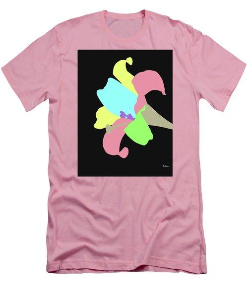 Men's T-Shirt (Slim Fit) featuring the digital art Music Notes 13 by David Bridburg