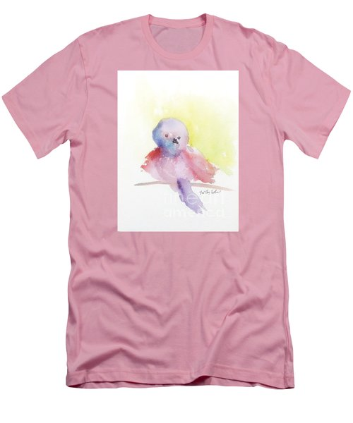 Men's T-Shirt (Slim Fit) featuring the painting My Little One by Trilby Cole