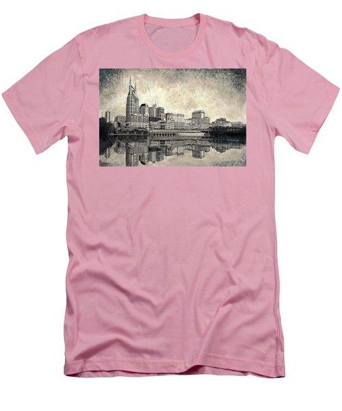 Nashville Skyline II Men's T-Shirt (Slim Fit) by Janet King