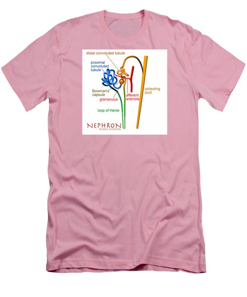 Men's T-Shirt (Athletic Fit) featuring the digital art Nephron Labels #1 by Russell Kightley