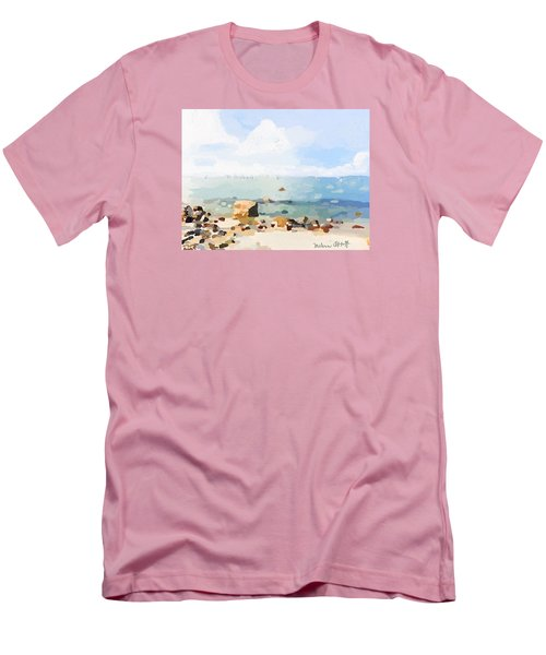 Old Garden Beach  Men's T-Shirt (Athletic Fit)