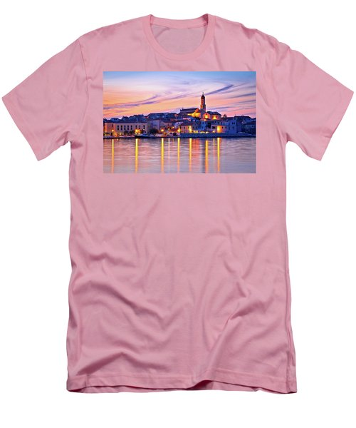 Old Mediterranean Town Of Betina Sunset View Men's T-Shirt (Slim Fit) by Brch Photography