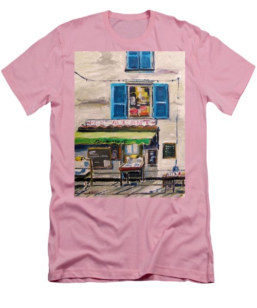 Old Town Cafe Men's T-Shirt (Slim Fit) by John Williams
