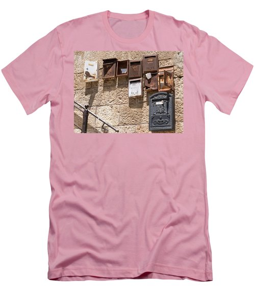 Old  Mailboxes In Jerusalem Men's T-Shirt (Athletic Fit)
