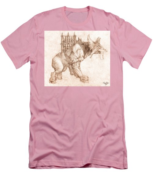 Oliphaunt Men's T-Shirt (Slim Fit) by Curtiss Shaffer